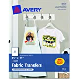 Avery T-shirt Transfers for Inkjet Printers for light-colored, 8.5 x 11 Inches, Pack of 18 (08938)