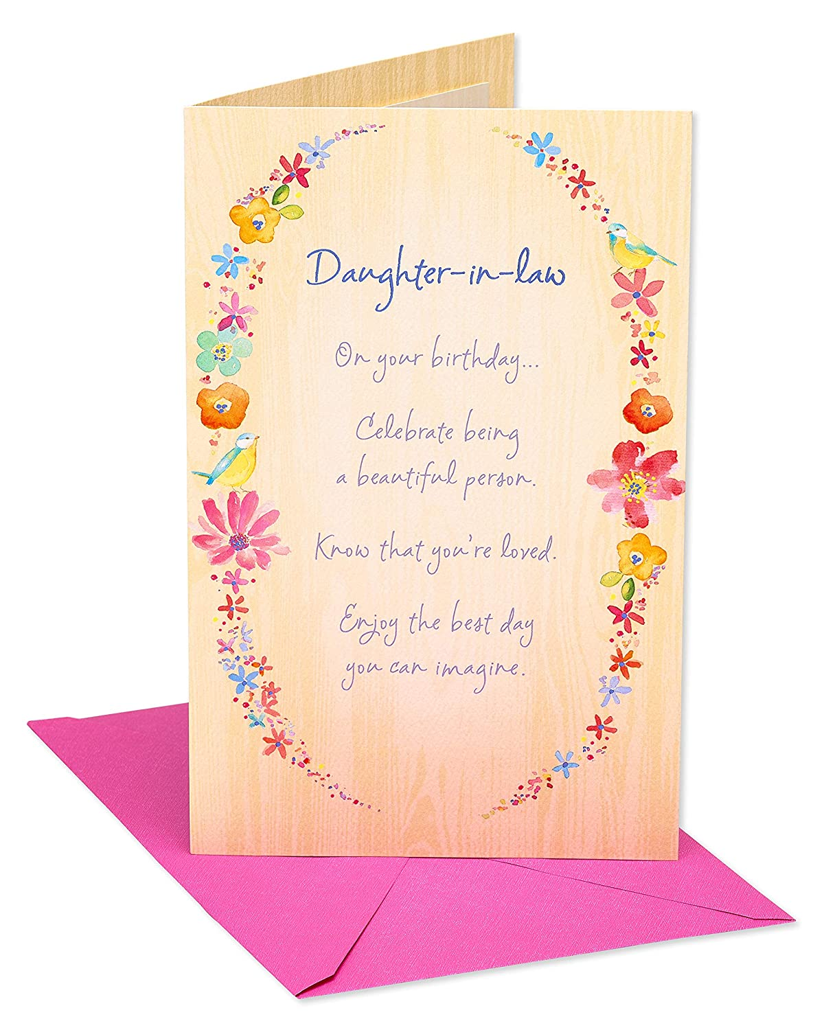Amazon Moments Birthday Card For Daughter In Law With Foil Office Products