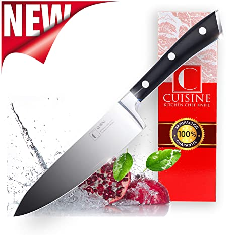 Professional Kitchen Chef Knife – Super Sharp, 8-Inch, High Carbon German Stainless Steel – Christmas Gift Box, Lightweight, Ergonomic Handle – ...