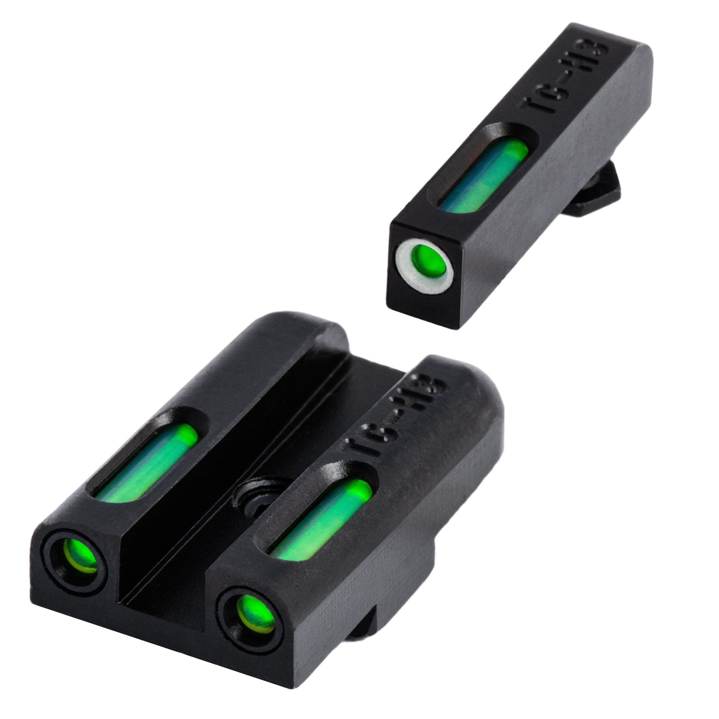 TRUGLO TFX Tritium and Fiber-Optic Xtreme Handgun Sights for Glock Pistols, Glock 42, 43 by TRUGLO
