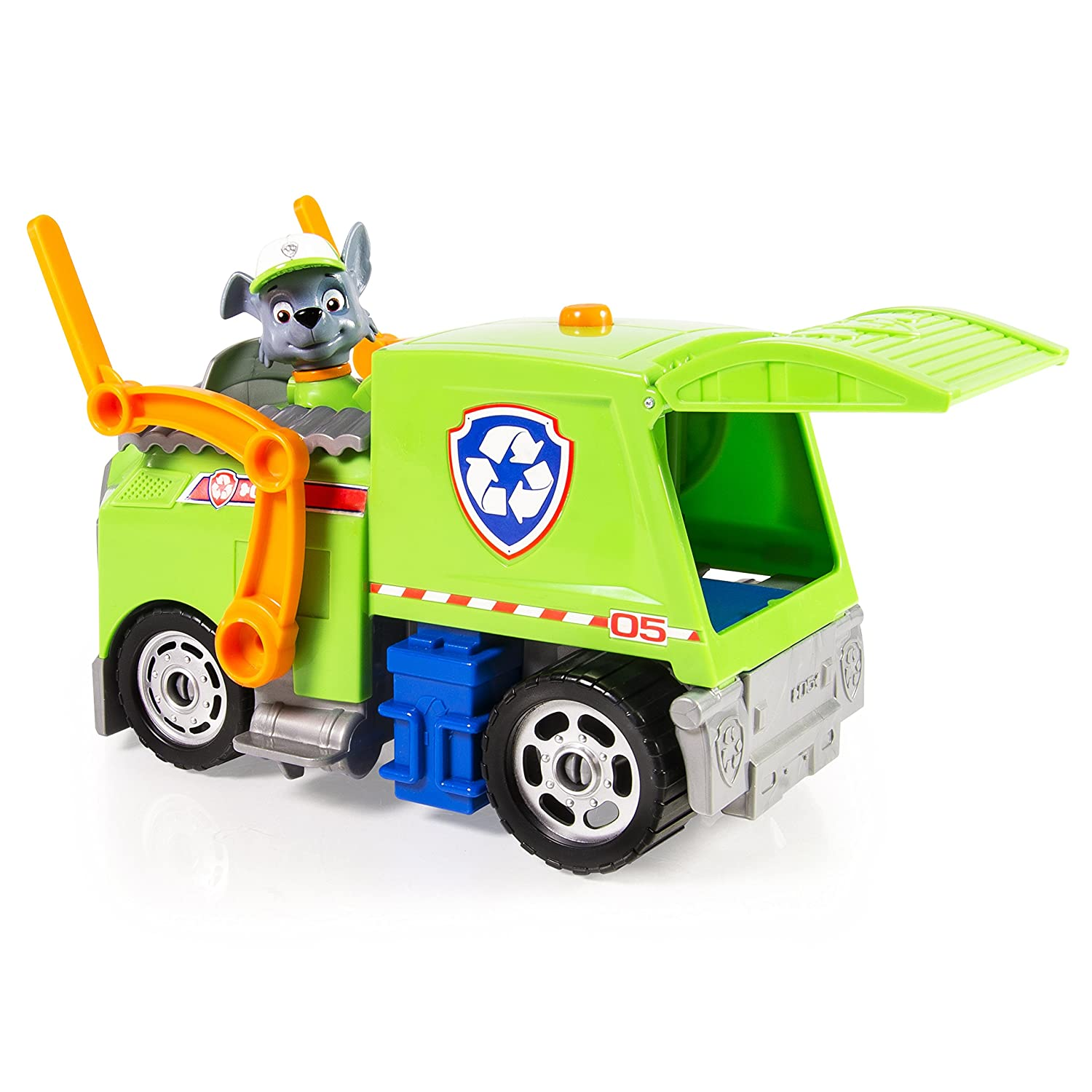 amazon com paw patrol rocky s lights and sounds recycling truck