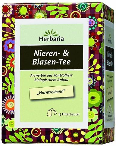 Herbaria Nieren & Blasen-Tee 15FB, 2er Pack (2 x 24 g) - Bio: Amazon ...