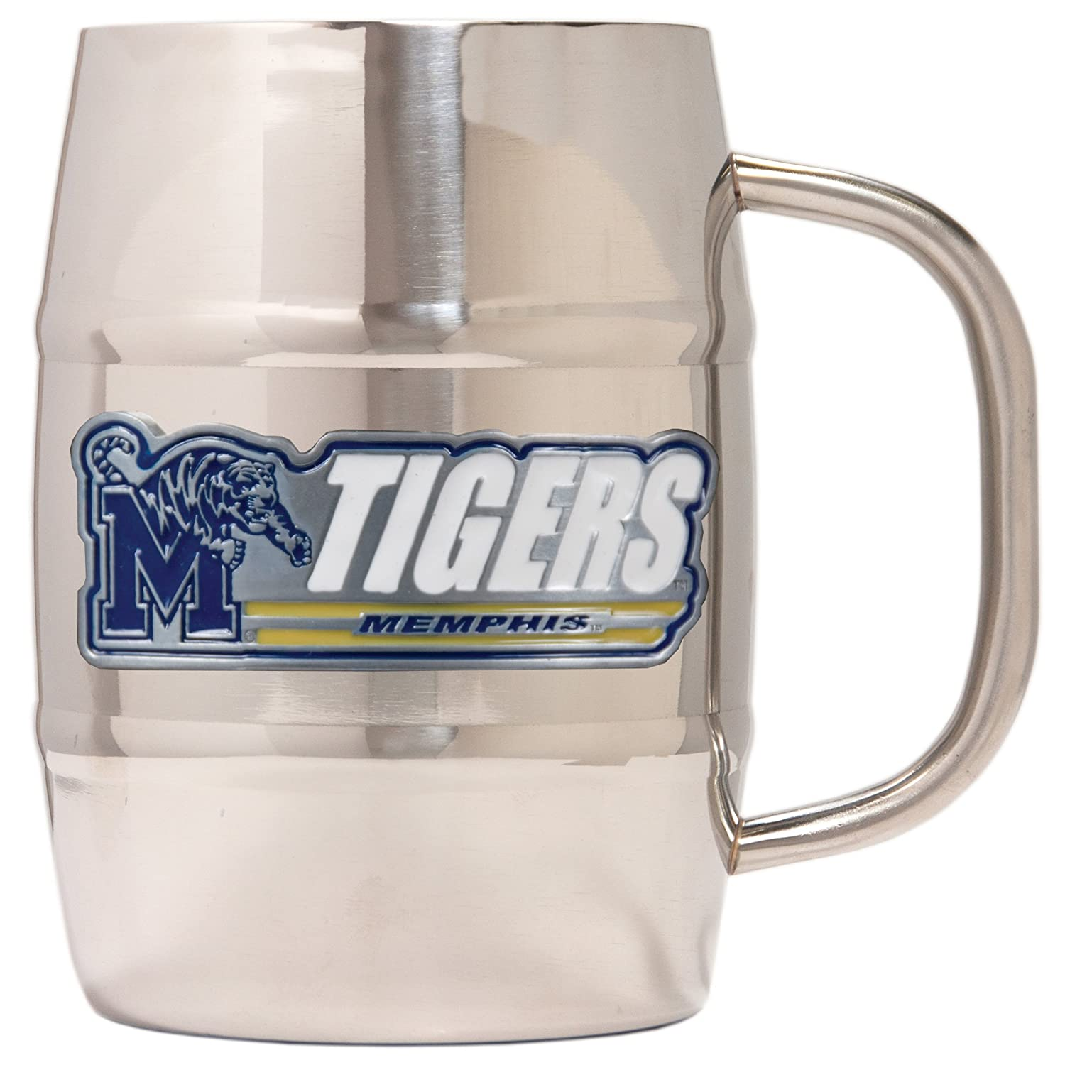 Great American Products College Dbl Wall SS Barrel Mug 32 oz 32-Ounce Silver SSMB2329-14