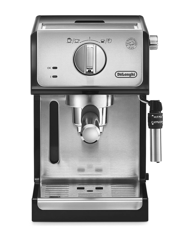 Delonghi ECP35.31 - Cafetera espresso, 1100 W, capacidad 1.1 l, café molido y monodosis para 2 tazas, negro y plata