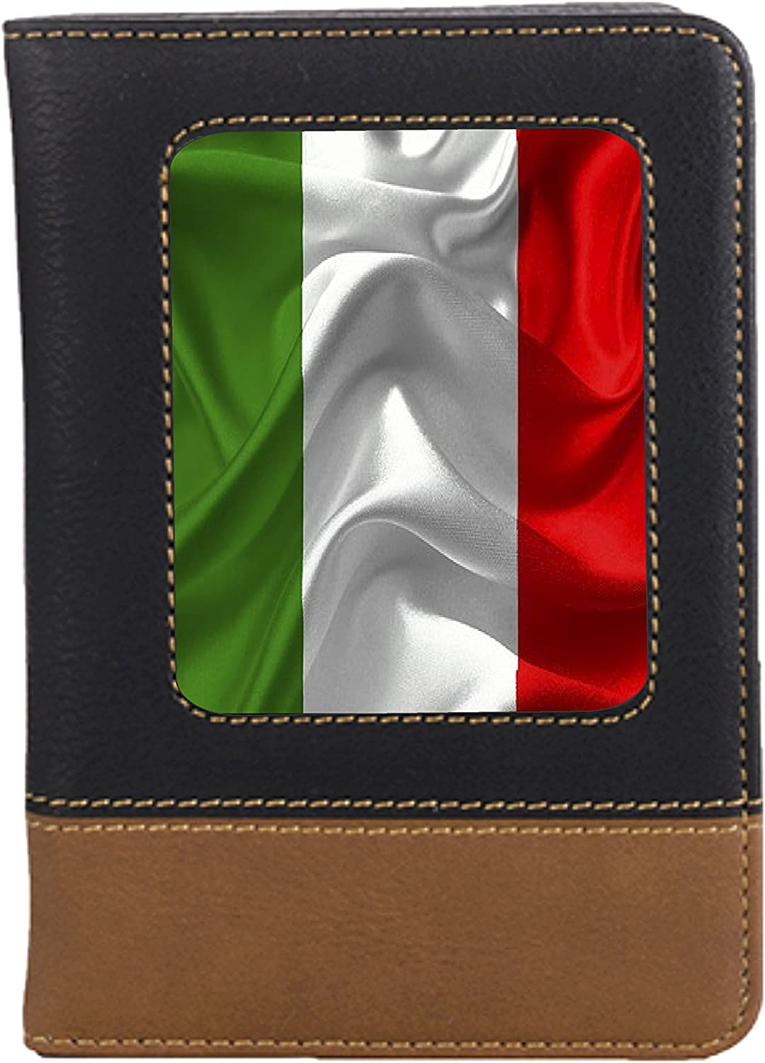 Italian Flag Leatherette Passport Wallet Style Case Cover For Travel
