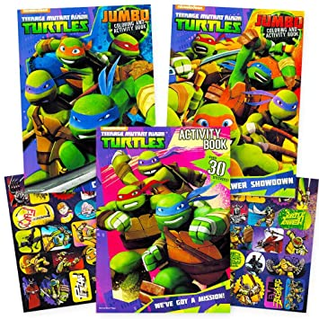 teenage mutant ninja turtles coloring and activity book set with stickers 3 tmnt coloring books - Teenage Mutant Ninja Turtles Coloring Book