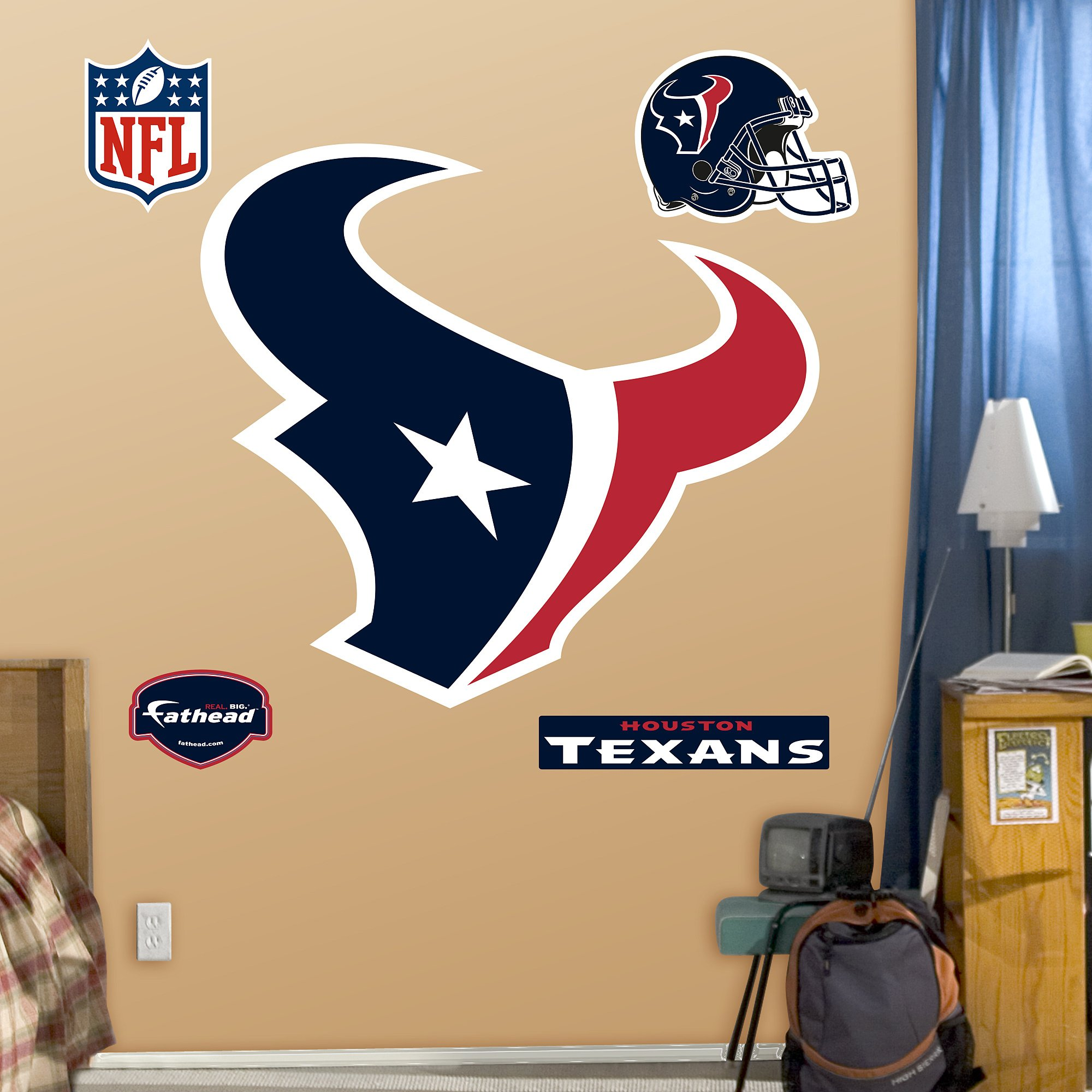 Fathead NFL Houston Texans Houston Texans: Logo - Giant Officially Licensed NFL Removable Wall Decal - 14-14015 by FATHEAD