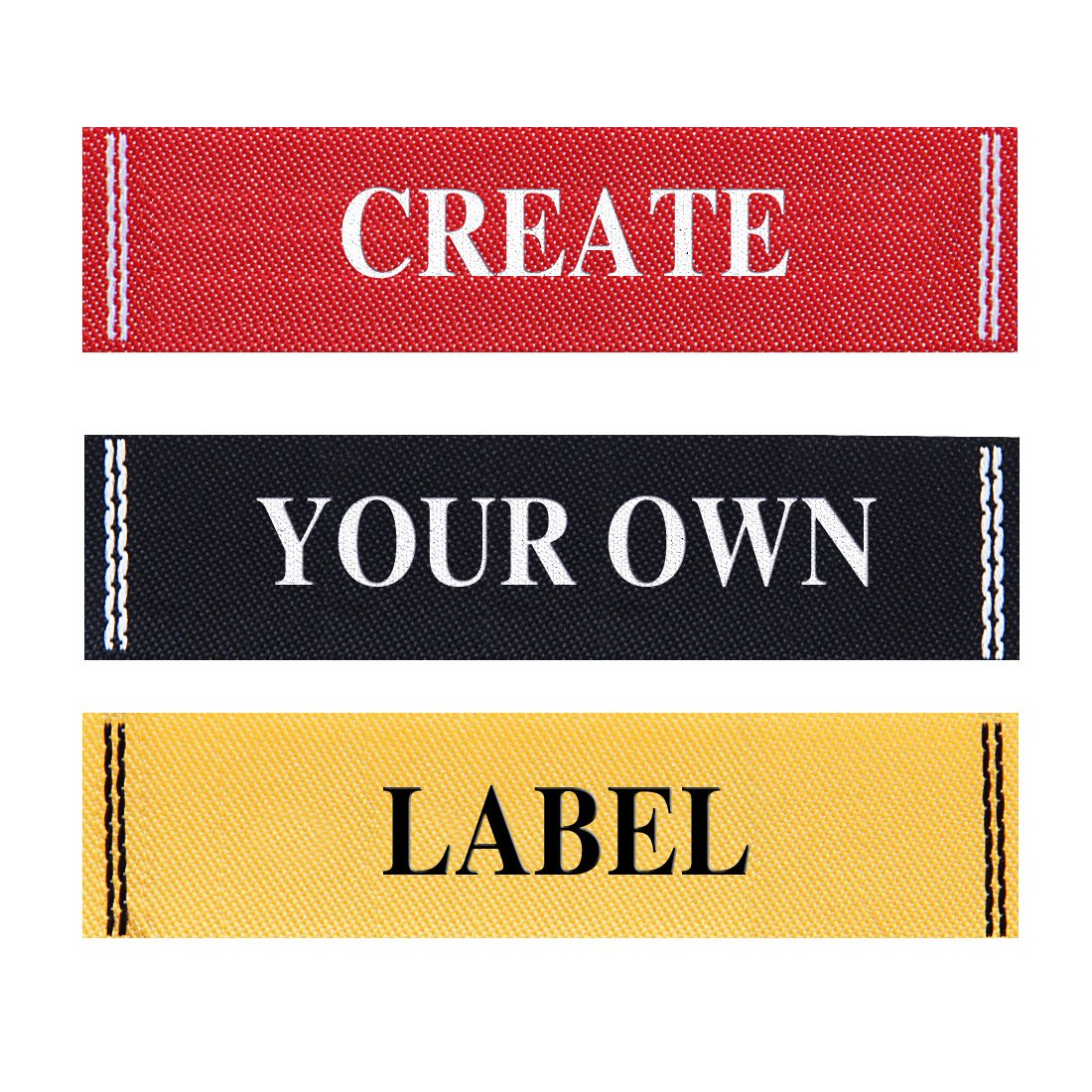 Wunderlabel Personalized Custom Customize Standard Woven with Frame Crafting Fashion Ribbon Ribbons Tag Clothing Sewing Sew Clothes Garment Fabric Material Embroidered Label Labels Tags, 100 Labels