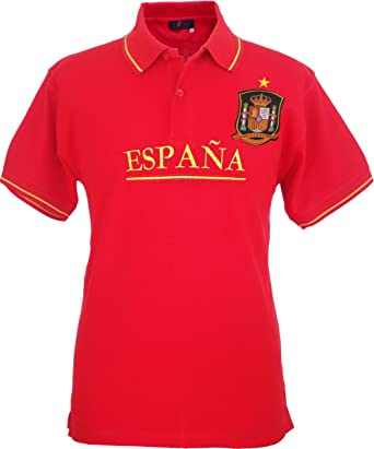 Pi2010 – Polo España Rojo, Bordado Delantero, Escudo Selección ...
