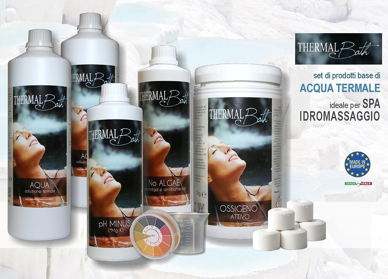 Thermal Bath PH Minus 500 ml - Reductor de pH addizionato de Sales Minerales (Magnesio, Ion Potasio, Iodio) para tratamiento térmico + Dosificador Graduado ...