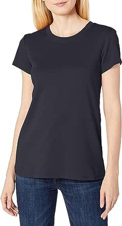 Lark & Ro Amazon Brand Women's Pima Cotton Crew Neck Tee