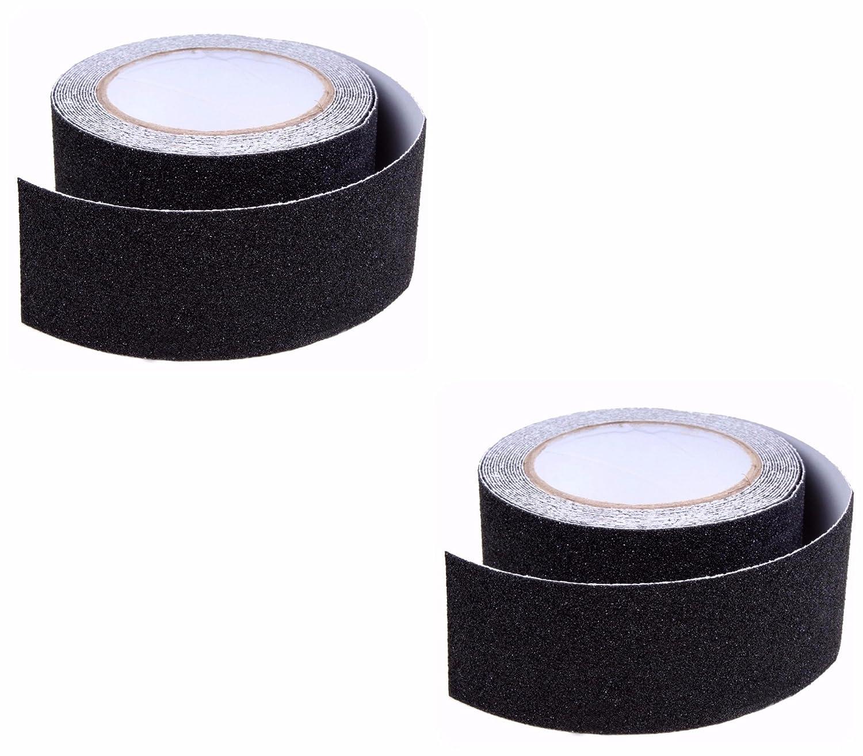 AllSquare - Cinta autoadhesiva Antideslizante, Color Negro, Impermeable, Alta adherencia, Seguridad de Escalera, 25 mm de Ancho