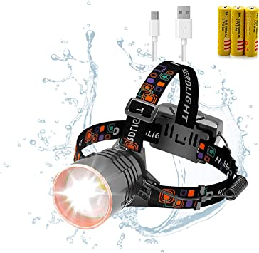USB Rechargeable LED Headlamp Headlight Head Lamp Flashlight for Camping Hiking