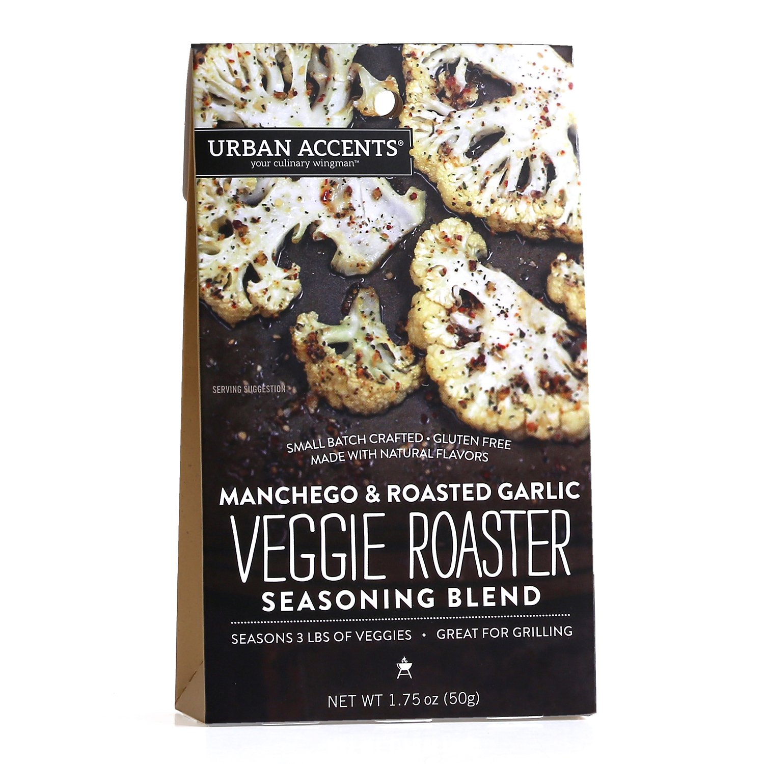 Manchego & Roasted Garlic Veggie Roaster Seasoning Blend – Vegetable Spice Mix, Urban Accents 1.25 Ounce