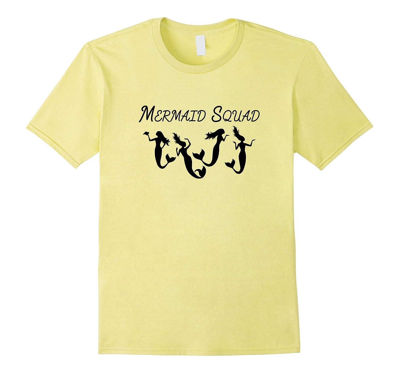 Mermaid Squad Merfolk Group T-shirt-Art