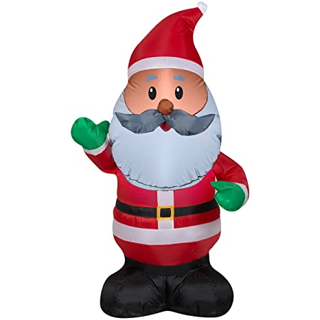 black santa inflatable 4 feet tall african american santa claus outdoor inflated christmas decorations - African American Outdoor Christmas Decorations