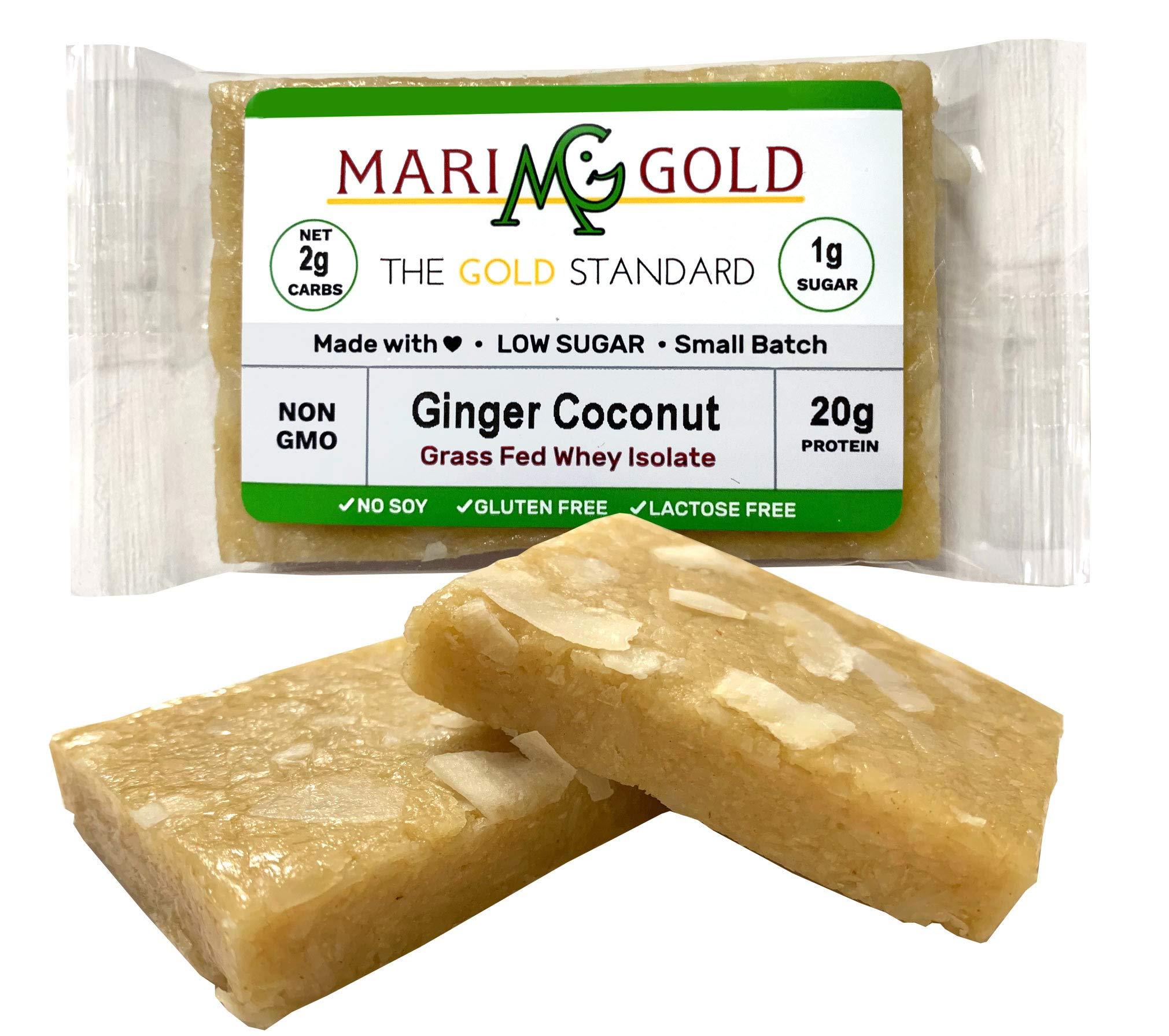 Keto (2-3 NET CARB) Protein Bar by MariGold - Amazing Taste Ketogenic Snacks - Organic Fats, 1 g Sugar, 21 g Protein GRASS FED Whey - Non GMO. Made Fresh, Ships Fresh. (12 bars) by MariGold Bars (Image #5)