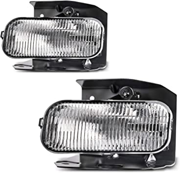 Amazon Com Fog Lights Compatible With 1999 2003 Ford F150 F250 1999 2002 Ford Expedition Clear Lens W H10 12v 42w Bulbs Automotive