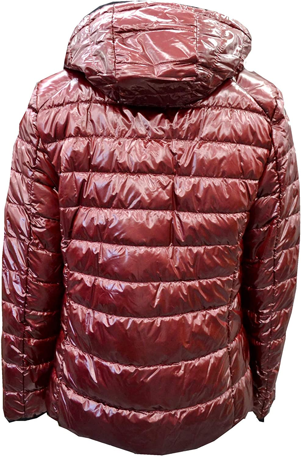 BARA LEBEK Women's Quilted Jacket with Hood Shiny Look 44