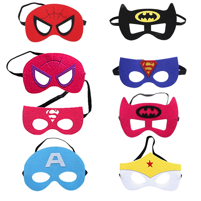Zaleny Superhero Dress up Costumes 4 Satin Capes and 4 Felt Masks