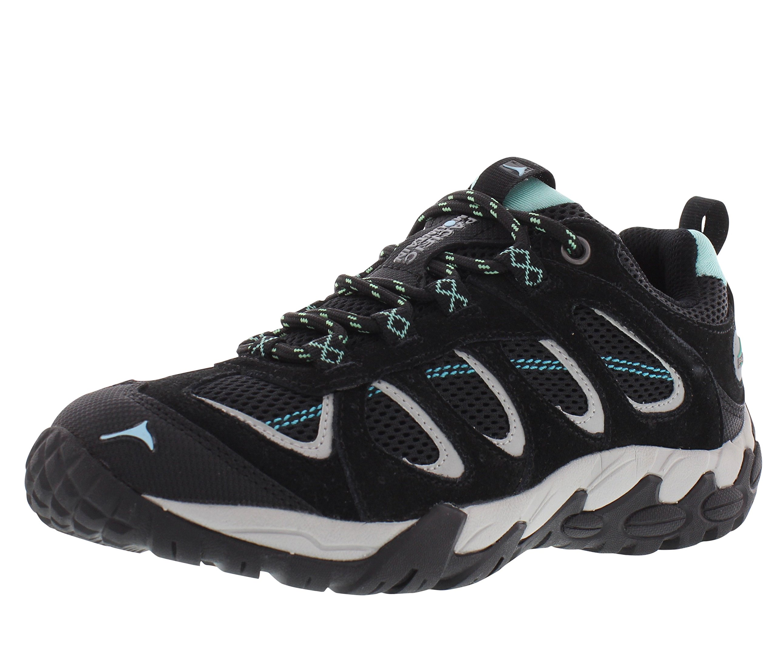 Pacific Mountain Cairn Women's Waterproof Hiking Backpacking Low-Cut Grey/Black/Turquoise Boots Size 10 by Pacific Mountain