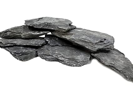 Amazon.com: Natural Slate Aquarium Stones - Extra Large 8 to ...