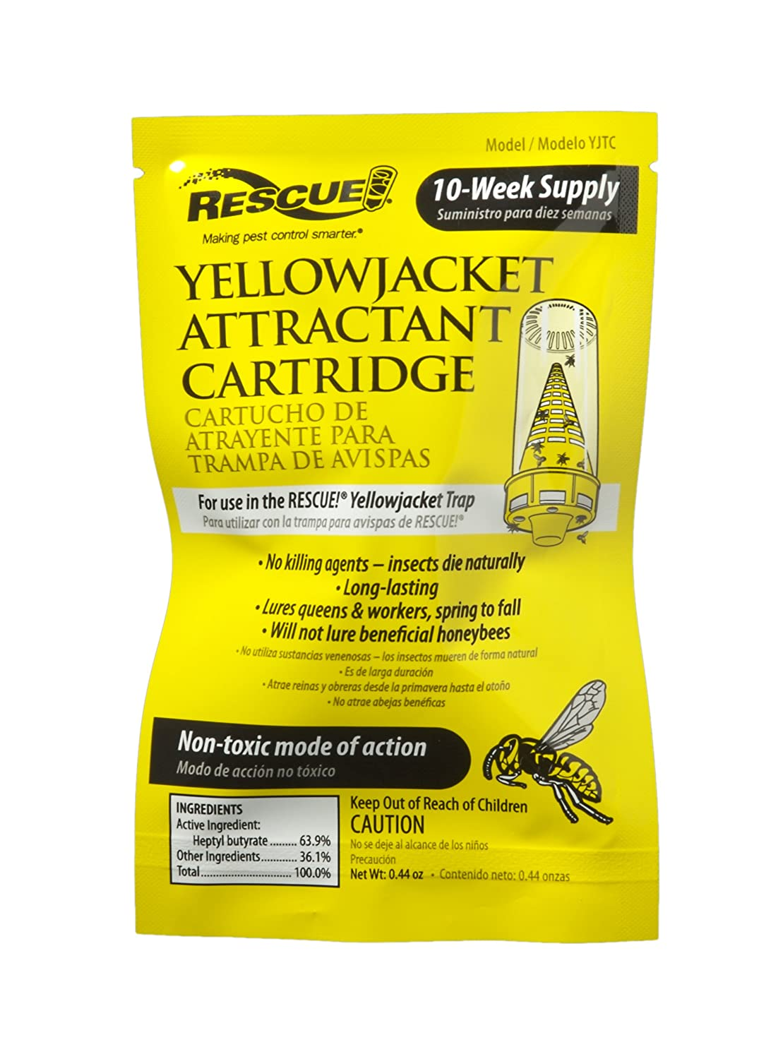 Yellow jackets in ground in winter ohio - Amazon Com Rescue Yjtc Non Toxic Yellowjacket Attractant Refill 10 Weeks Home Pest Control Traps Garden Outdoor