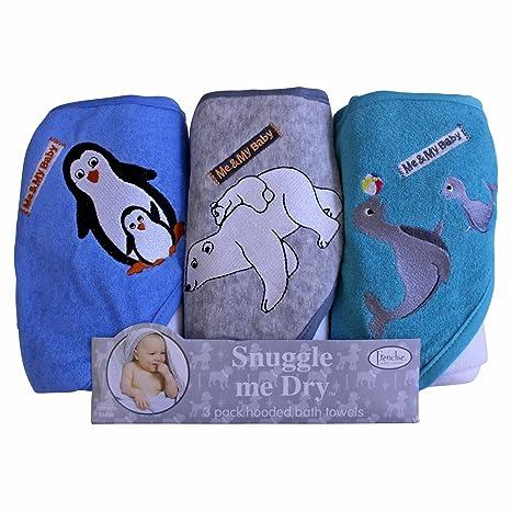 Pingüino/Oso polar/Seal de baño con capucha Juego de toallas, 3 Pack