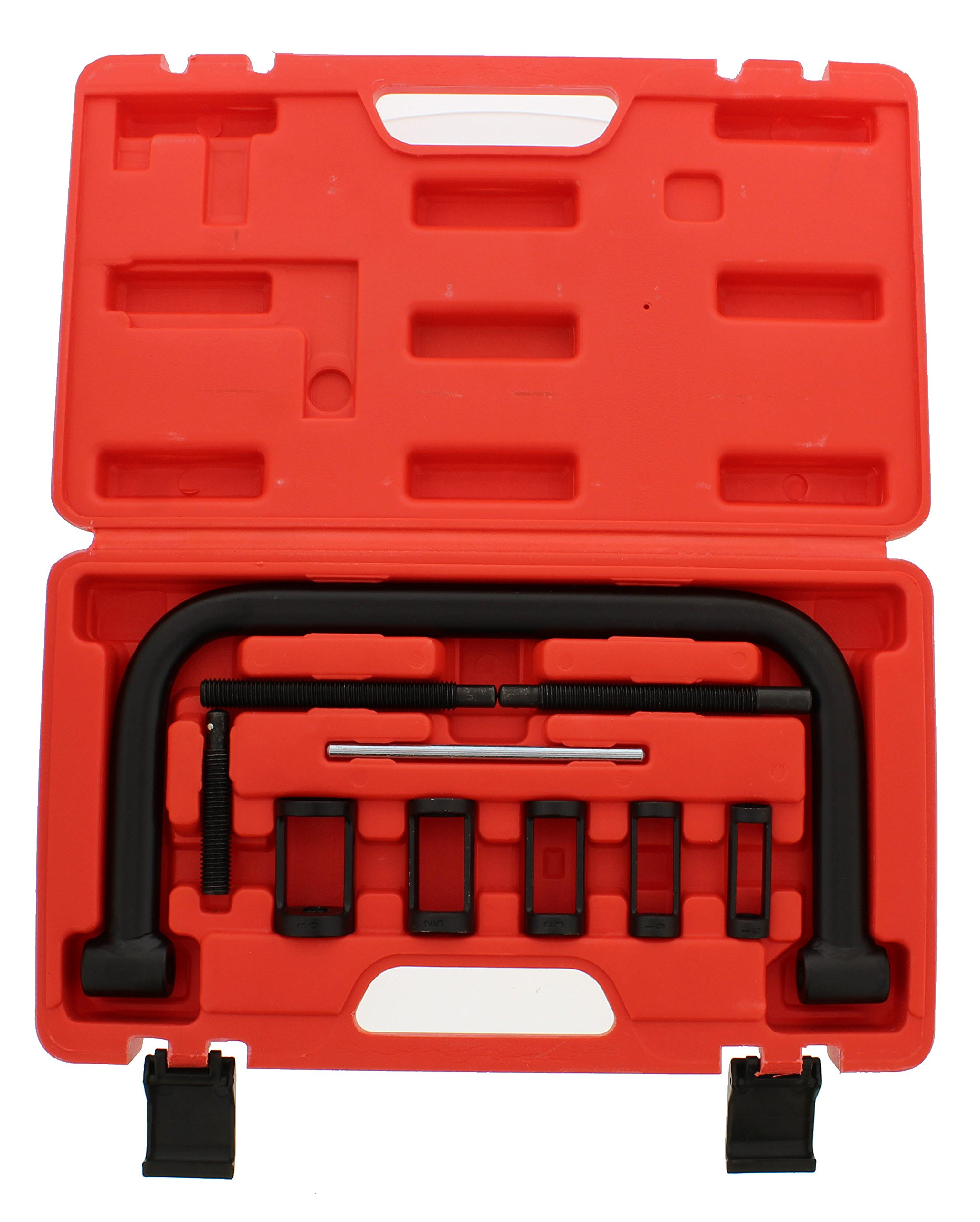 ABN Auto Valve Spring Compressor C Clamp Tool Set Service Kit for Motorcycle, ATV, Car, Small Engine Vehicle Equipment
