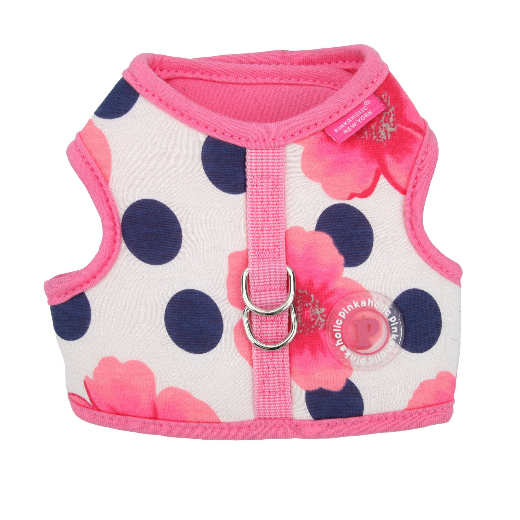 Pinkaholic New York NAQA-AH7218-PK-L Peonies Harness for Pets, Large, Pink