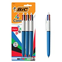 Deals on BIC 4-Color Ballpoint Pen, Medium Point (1.0mm) 3-Count