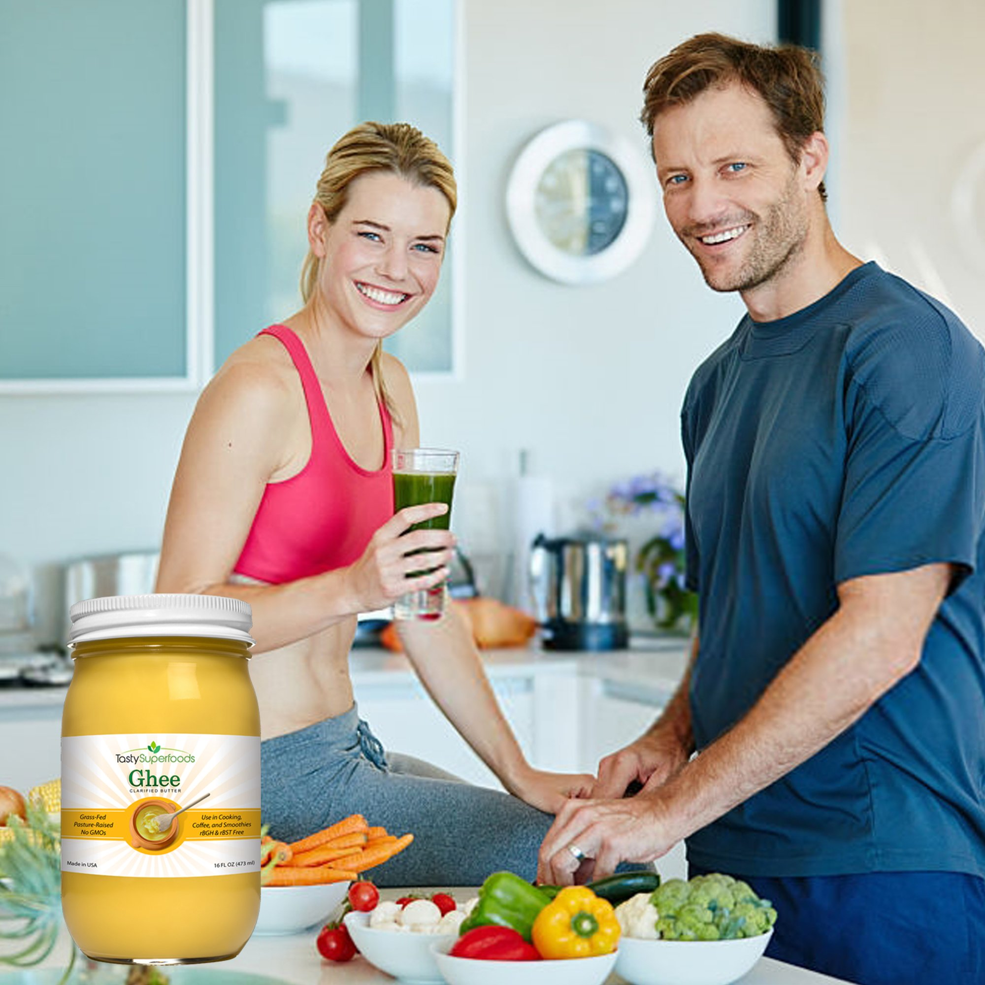Tasty Superfoods Grass Fed Organic Ghee - Glass Jar of Pure, Unsalted Clarified Butter from Grass-Fed Cows - Best Healthy Oil for Indian Cooking, in Coffee, or for diets like Paleo and Whole30 (16oz) by Tasty Superfoods (Image #7)