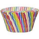 Cupcake Creations Jumbo Rainbow Swirl Baking Cups (24 Pack), Multicolor