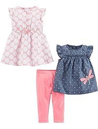 Simple Joys by Carter's Girls' 3-Piece Playwear Set