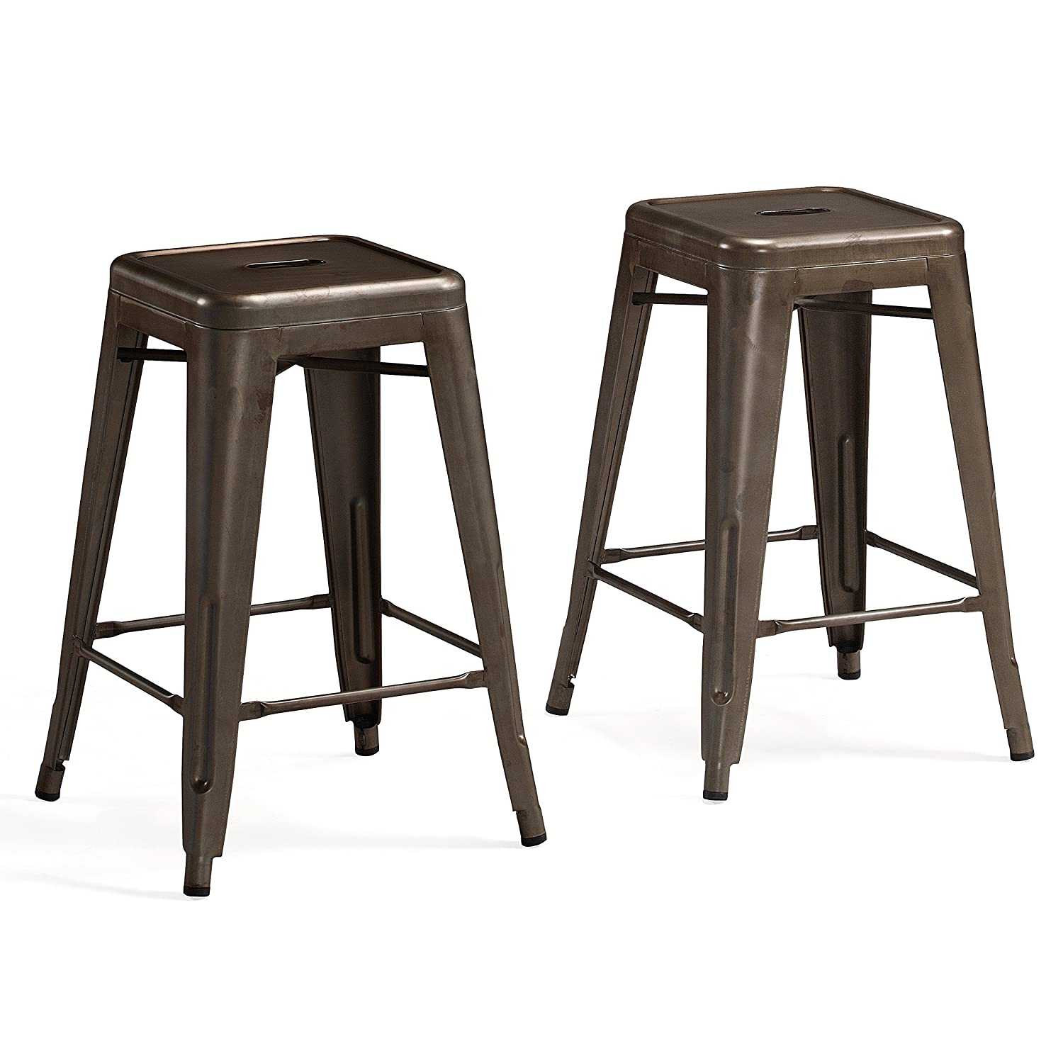 Amazon com tabouret 24 inch vintage counter stool set of 2 kitchen dining
