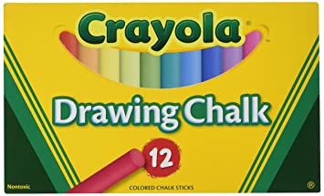 amazon co jp colored drawing chalk assorted colors 12 sticks set