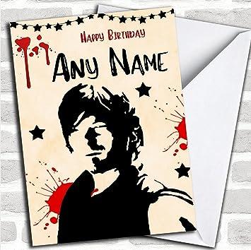 Daryl The Walking Dead Customised Birthday Card Amazon