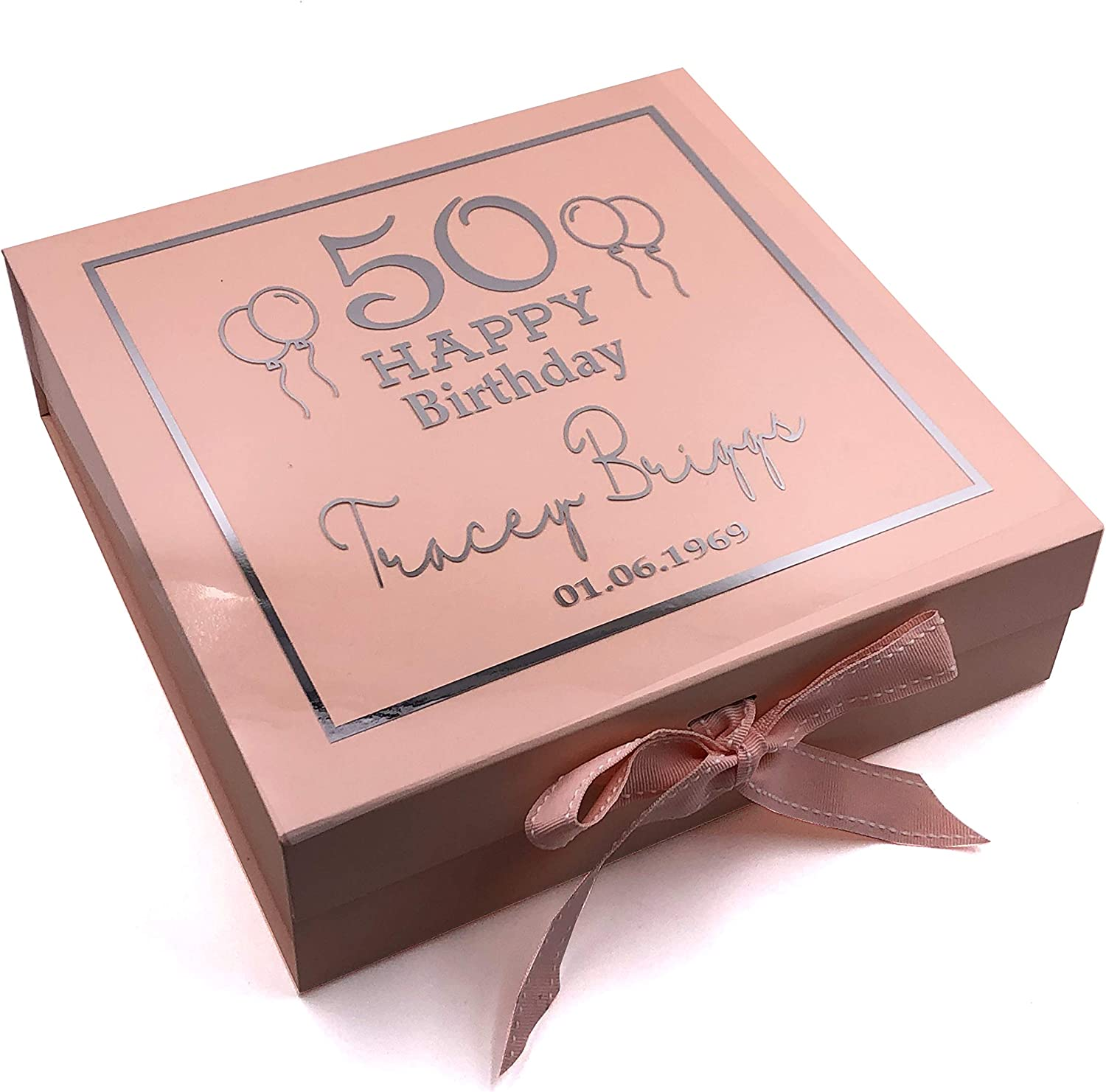 30th 16th Purple Outline 70th 60th ukgiftstoreonline Personalised Pink Birthday Gift Keepsake Box Various Outlines 13th 18th 21st 50th 40th