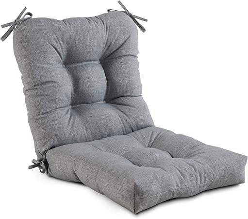 South Pine Porch AM5815-HEATHER Heather Gray Outdoor Seat/Back Chair Cushion
