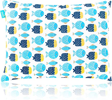 kid pillow for sleeping 14 x 19 soft best neck support first small baby toddler pillow machine washable for daycare travel crib and toddler bed