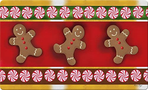 Toland Home Garden 830099 Gingerbread Men 18 x 30 Recycled Mat, USA Produced