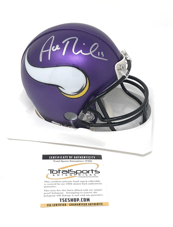 b4716e69347 Adam Thielen Minnesota Vikings Signed Autograph Mini Helmet TSE Sports  Certified