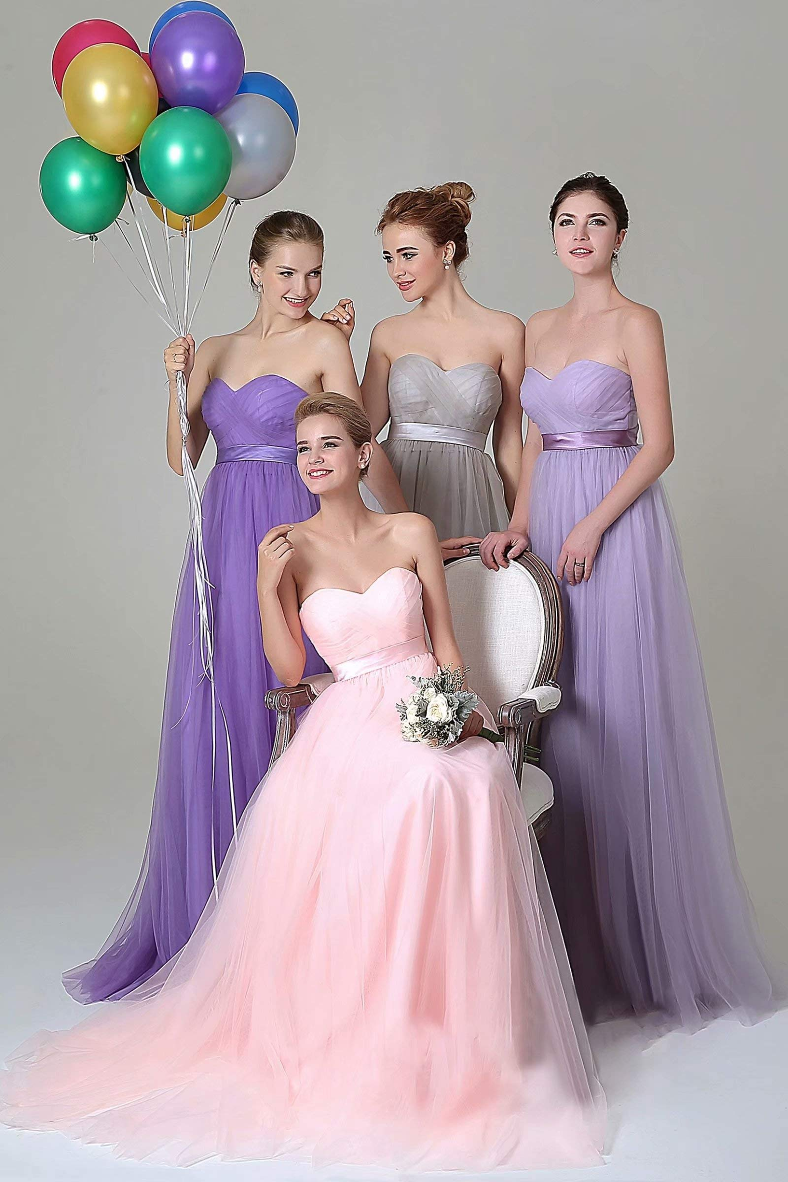 100% authentic exceptional range of styles and colors pick up NaXY Womens Strepless Tulle Convertible Bridesmaid Dresses Long 2019 Navy