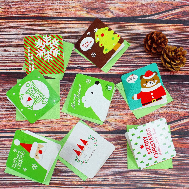 24 Design 48 Merry Christmas Cards Biglietti Con Buste For Christmas Thank You Anniversary Biglietto Di Auguri Di Natale