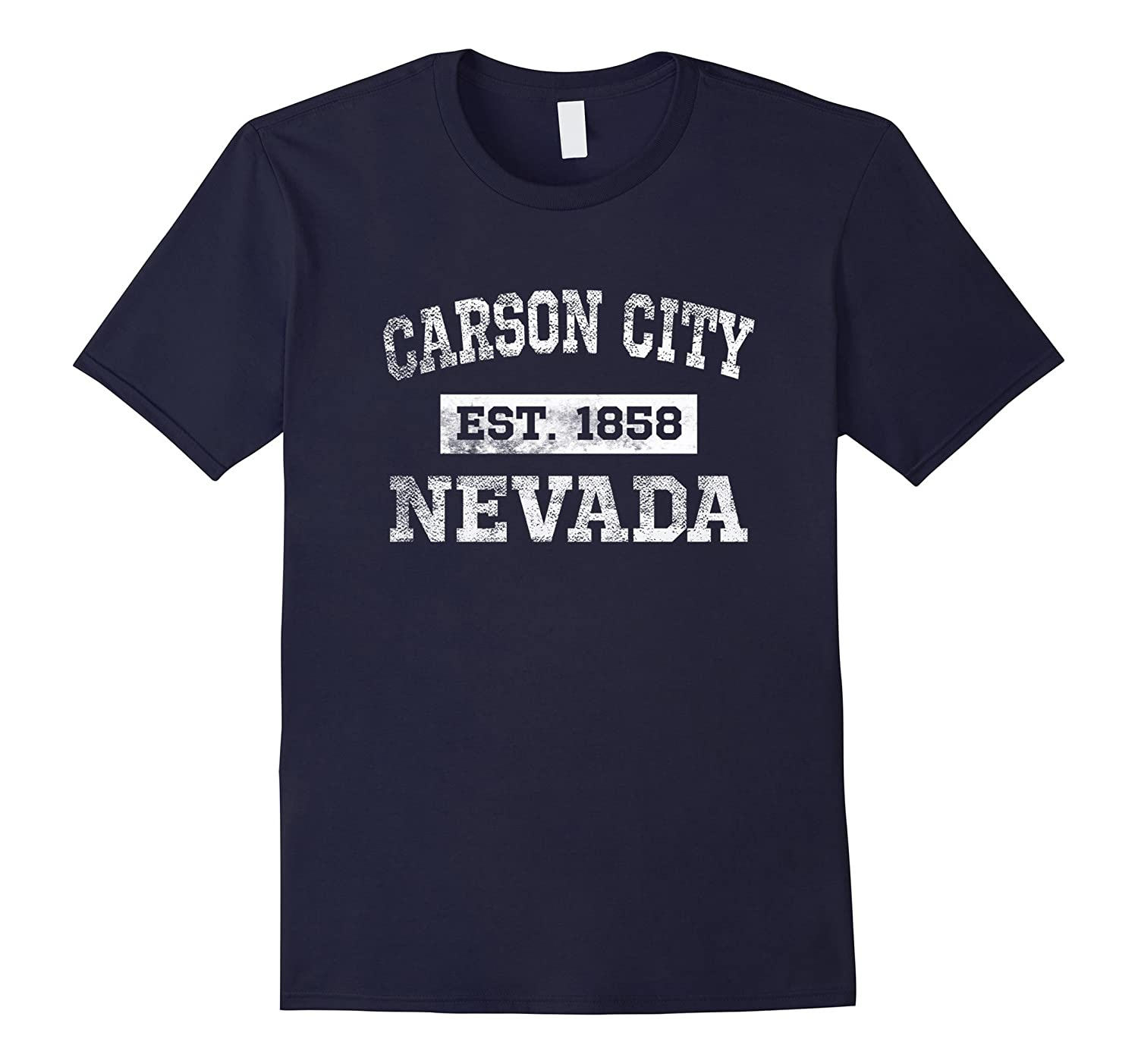 Carson City Nevada T Shirt Est 1858 Distressed-CD