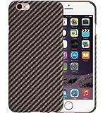 iPhone 6 / iPhone 6s Cover con Schermo protettivo, Nero / Oro Rosa, 4.7 pollici backcover ultra sottile 0.65 mm da PITAKA Aramid Fibre