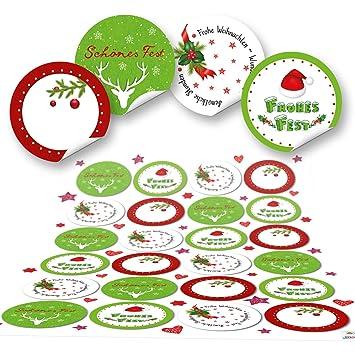 Frohe Weihnachten Aufkleber.48 Runde Grün Rot Weiß Frohe Weihnachten Aufkleber Geschenkaufkleber Verpackung Weihnachtlich Sticker Für Geschenke Weihnachtsaufkleber Text