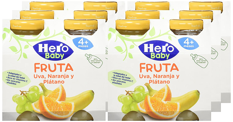 Hero Baby Zumitos Uva Naranja Plátano 260 ml - Pack de 6 (Total 1560 ml): Amazon.es: Alimentación y bebidas