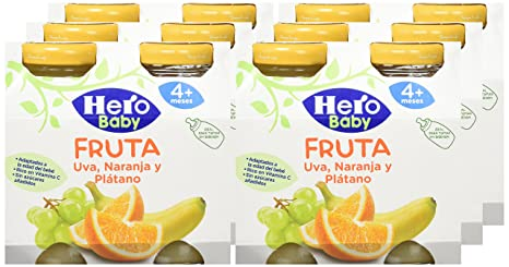 Hero Baby Zumitos Uva Naranja Plátano 260 ml - Pack de 6 (Total 1560 ml)