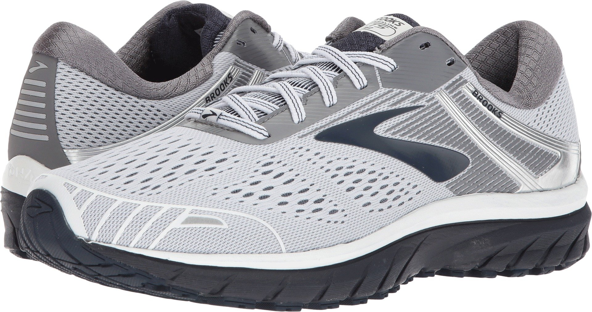 e11bfe6be4c Galleon - Brooks Men s Adrenaline GTS 18 White Grey Navy 15 D US